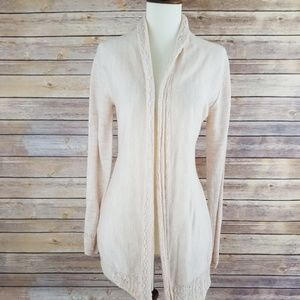 Knitted and Knotted Anthro Tunic Cardigan Wool
